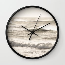 Windswept Waves Wall Clock