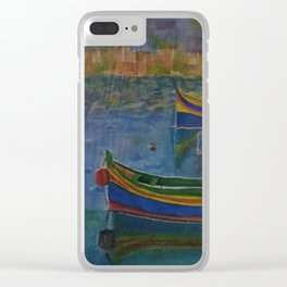 boats on sea Clear iPhone Case