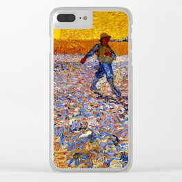 Vincent Van Gogh The Sower With Setting Sun Clear iPhone Case