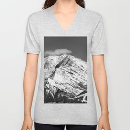 Mt. Blanc with cloud. Unisex V-Neck