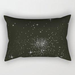 Dark night and stars Rectangular Pillow
