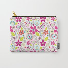 Inky Floral Carry-All Pouch