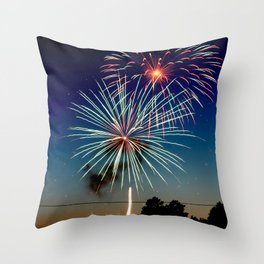 July 4th Fireworks Throw Pillow