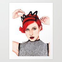 hayley williams Art Prints featuring Hayley Williams  by Emily Smith (Emzstuff)