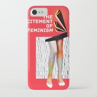 feminism iPhone & iPod Cases featuring 1920's Feminism by Profunction