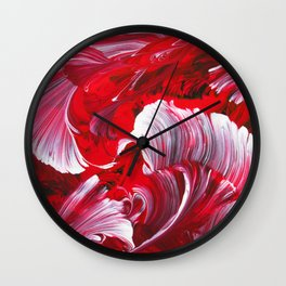 Crimson Swirl Wall Clock