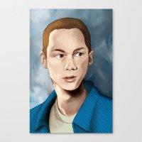 stiles stilinski Canvas Prints featuring Stiles Stilinski by Terry Blas