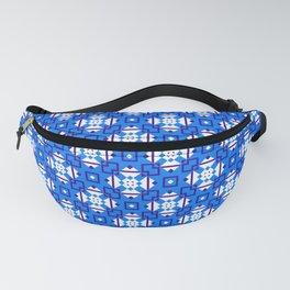 Geometric Tiles Blue Fanny Pack