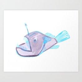angler fish Art Print