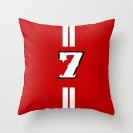 sacred jersey number Throw Pillow