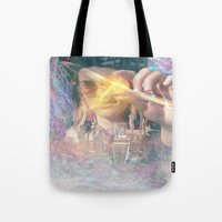 occult Tote Bags featuring Olwen's Occult by Devin C. Fitzpatrick