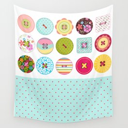 Seing Buttons Wall Tapestry