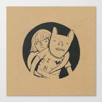 lovers Canvas Prints featuring Lovers by Celia Marquis