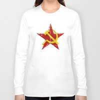 soviet Long Sleeve T-shirts featuring Soviet symbol by Emma Harckham