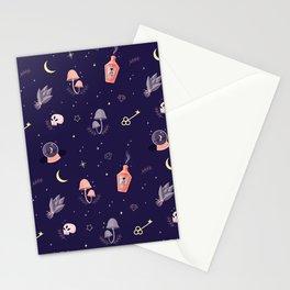 Witch pattern Stationery Cards