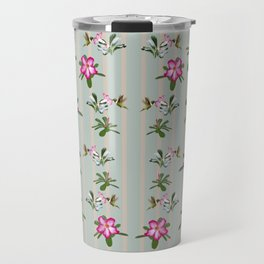 Desert Rose and Hummingbird Patterns Travel Mug