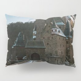 Fairytale Castle in a winter forest in Germany - Landscape and Architecture Pillow Sham