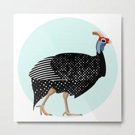 Guinea Fowl Metal Print