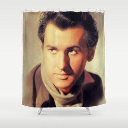 Stewart Granger, Vintage Actor Shower Curtain