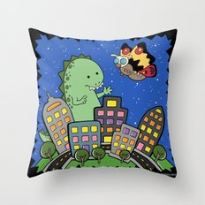 Monstrous Friendship Throw Pillow