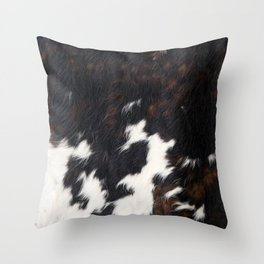 Cowhide Texture Throw Pillow