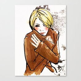 Its Cold... Canvas Print
