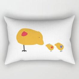 Sunny Family Mom and Kids Rectangular Pillow