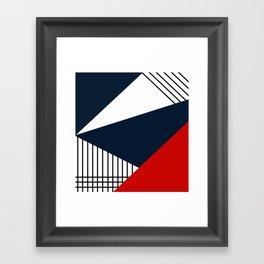 Abstract geometric pattern Lola 2 Framed Art Print