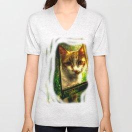 Daisy Cat Unisex V-Neck