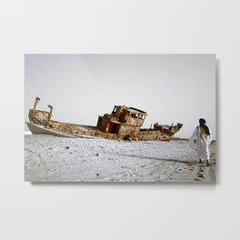 Loneliness on Nouakchott beach Metal Print