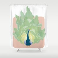 king Shower Curtains featuring KING by Isaac Martinez