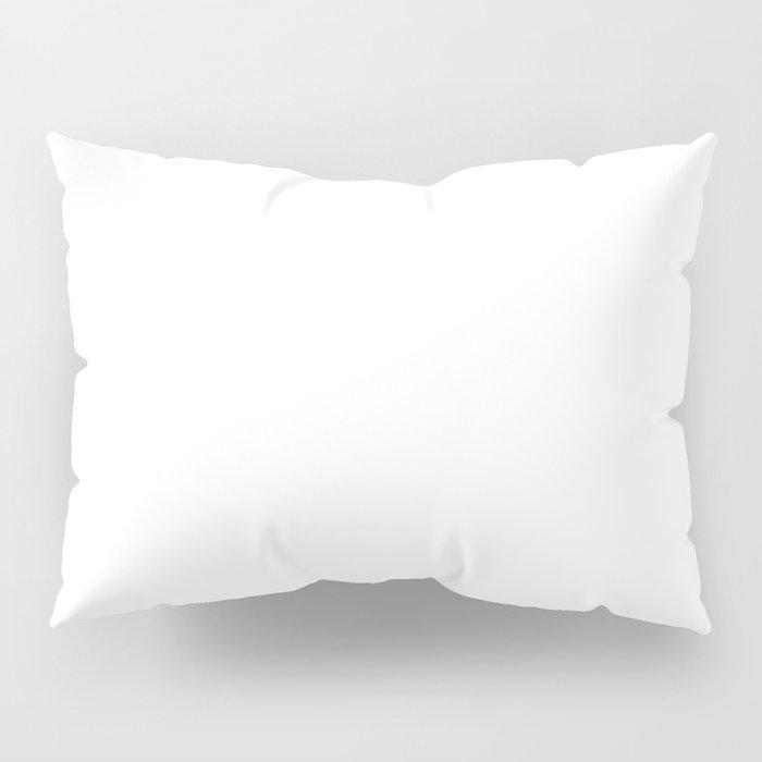 White Minimalist Pillow Sham