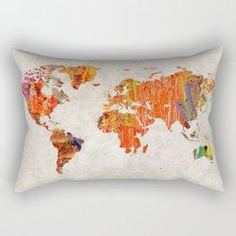 World Map 53 Rectangular Pillow