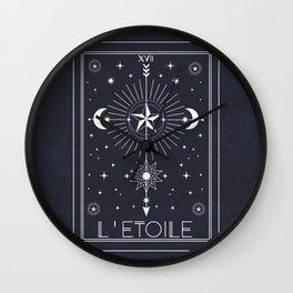 L'Etoile or The Star Tarot Wall Clock