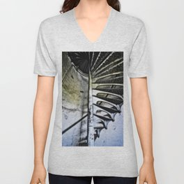 Lighthouse tower stairs Unisex V-Neck