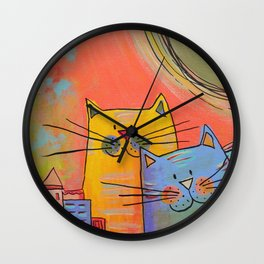 City cats Wall Clock