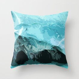 Water cave Throw Pillow