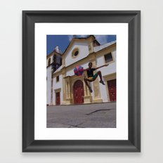 Frevo flight Framed Art Print