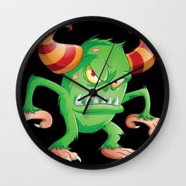 Halloween Monster 3 Wall Clock