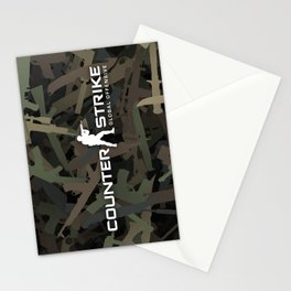 Counter strike weapon camouflage Stationery Cards