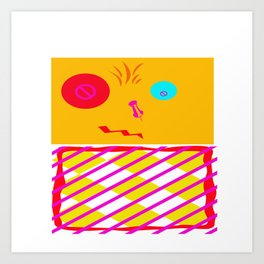 Mustard Dachi Art Print