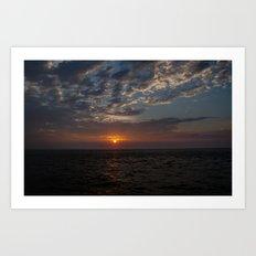 Sunrise on Fripp Island 2 Art Print