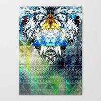 the lion king Canvas Prints featuring KING LION by sametsevincer