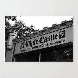 White Castle Hamburgers Canvas Print