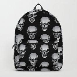 Chrome Skull Illustration Backpack