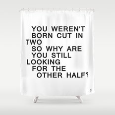 In Half / Original / Mono Shower Curtain
