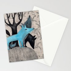 Beware, rabbit! Three wild dogs.  Stationery Cards