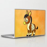 donkey Laptop & iPad Skins featuring Childhood Donkey by Texnotropio