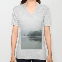 Fog - Landscape Photography Unisex V-Neck