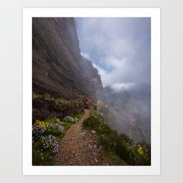 Caminos en el cielo Art Print